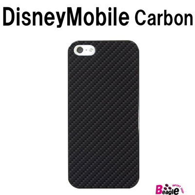 特殊印刷/Disney Mobile(SH-02G)/DisneyMobile(F-07E/N-03E)(F-03F)(SH-05F)(カーボン)CCC-080【スマホケース/ハードケース/カバー/ディズニーモバイル】の画像