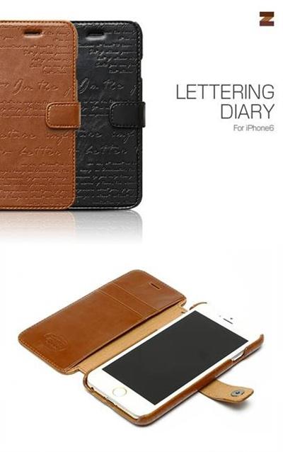 iPhone6カバーアイホン6 アイフォン6ケースiphoneケース アイフォン ブランド iphoneカバーiPhone6用 【iPhone6 4.7インチ 】ZZENUS Lettering Diary (レタリングダイアリー)【メール便送料無料】の画像