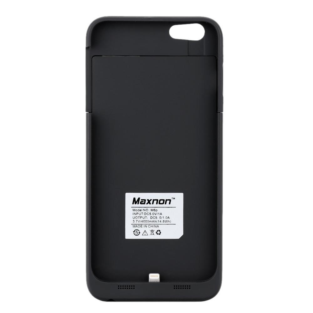 【クリックで詳細表示】Maxnon M6P 4000mAh外部[MFiの証明と]内蔵バッテリーパワーバンクケースパックバックアップ充電器カバーフルケース保護iPhone 6プラス5.5