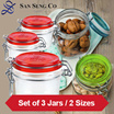 ★SET OF 3 FIDO JARS★Food Storage★Air-Tight Jars★ONLINE EXCLUSIVE★BEST PRICE GUARANTEE★STORE PICK-UP OPTION AVAILABLE★