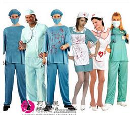 送料無料コスプレ 衣装 コスチューム ハロウィン お医者さん演じる服装性感護士服外科医白衣成人男女バーの看護婦のスカート