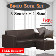 [Beds Specialist] 3 Seater Sofa With Foot Stool