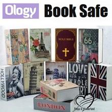 Security Book Safe Key Lock Safety Jewellery Box Secret Novel Dictionary Cosmetic Storage 3 Sizes