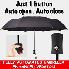 (Singtel Dash)BEST DEAL Automatic open and close Magic Umbrella / Auto Folding Large Double Triangle Rain Umbrella