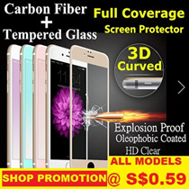 ★LowestPrice!!!★3DTempered Glass Screen Protector★For iPhone6/6s/6plus/6splus/7/7plus/SamsungS6/S7