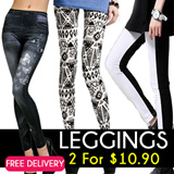 [SALES]♥2 for $10.90 NETT!♥ Korea Style Legging/Candy Colour Tights/Slim Design Pant/Safety Shorts/Trousers/Lacy Pants
