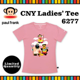 [Paul Frank] Celebrate CNY 2016 Monkey Year with Paul Frank Ladies Tee/Style 6277/Pink color. Size XS-L available. Free Qxpress Shipping/Store Pickup. 100% Authentic!