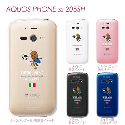 【AQUOS PHONE ss 205SH】【205sh】【Soft Bank】【カバー】【ケース】【スマホケース】【クリアケース】【サッカー】【イタリア】 10-205sh-fca-it06の画像