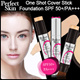[Perfect Skin] One Shot Cover Stick Foundation SPF50 PA++! ★ Surprise Price during the weekend dont miss it ★Korean artists Ceramic Skin Make-up Secret ! Must Buy! 12.5g (Including Brush)