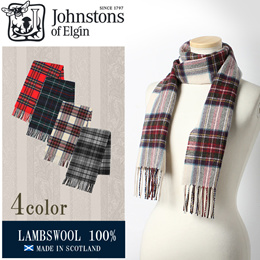 JOHNSTONS ジョンストンズ WD000033 マフラー ストール スカーフ SCARF 男女兼用