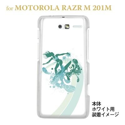 【MOTOROLA RAZR ケース】【201M】【Soft Bank】【カバー】【スマホケース】【クリアケース】【夏のパラダイス】 08-201m-ca0073の画像