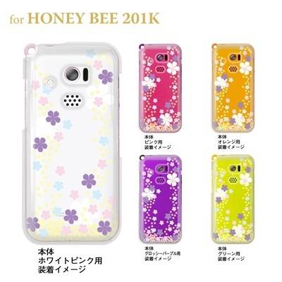 【HONEY BEE ケース】【201K】【Soft Bank】【カバー】【スマホケース】【クリアケース】【フラワー】【桜】 09-201k-flo0003の画像