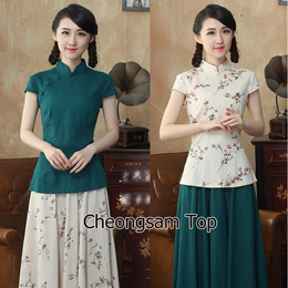 Female Cheongsam Top CNY Fashion Cheongsam / Qipao / Traditional Clothes 旗袍 cheongsam Dress Top