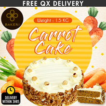 Carrot Cake- [FREE Delivery] Bursting with a nutty feel of toasted walnuts and luscious cream cheese