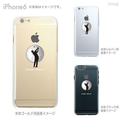 iPhone6 4.7 inch iphone ハードケース Clear Arts ケース カバー スマホケース クリアケース かわいい おしゃれ 着せ替え ゴルフ 10-ip6-ca0074の画像