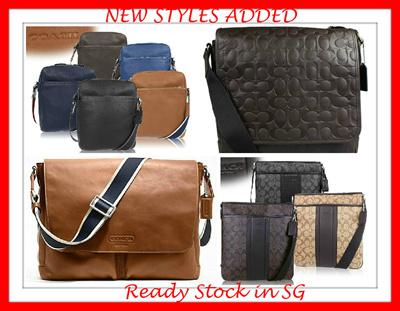 9c70c7d07122 READY STOCK IN SINGAPORE- NEW DESIGNS-AUTHENTIC COACH-MENS SHOULDER BAG  CROSSBODY