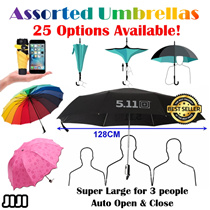 ★Nano 5 Fold Umbrella ★SMALLEST LIGHTEST ★ Reverse Umbrella ★ Double Layer Design Inverted ★Original 511★ Super Large Umbrella ★ 99% UV Light Protection★ Automatic Open/Close ★ Flower Blooming