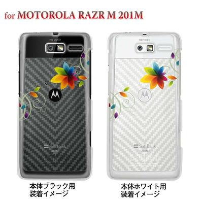 【MOTOROLA RAZR ケース】【201M】【Soft Bank】【カバー】【スマホケース】【クリアケース】【フラワー】 22-201m-ca0030の画像