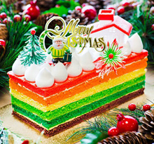 [Cake In Action] CHRISTMAS RAINBOW LOG CAKE 500G± / 1.2KG± Attractive Price !