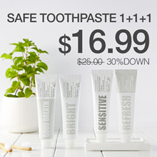 ★[Manyo Factory HQ Direct operation] ★T-smile Natural Toothpaste 1+1+1★ 13-Free Safe / 100g X 3 !!