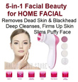 5-In-1 Facial Beauty 360 degree Ultrasonic Multifunction Exfoliating Firming Toning Face Massager Pore Blackhead Spa Cleanser