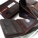 Free Shipping*B3222*NEW Luxury Men s 2 Zip Wallet*ID.Coin Card Wallet
