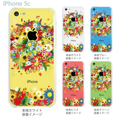 【iPhone5c】【iPhone5c ケース】【iPhone5c カバー】【ケース】【クリア カバー】【スマホケース】【クリアケース】【イラスト】【フラワー】 06-ip5cp-ca0081の画像