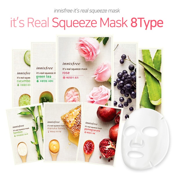 [innisfree]?its Real Squeeze Mask?8Type/Natural ingredients/20ml/