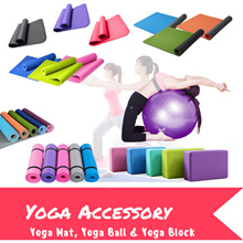 Yoga Series/Yoga Mats/TPE/NBR/PVC Yoga Blocks/Yoga Ball/Premium Quality Gym Sports Running / Gym exercise mat JIJI