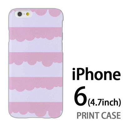 iPhone6 (4.7インチ) 用『1103 もこもこストライプ 紫水』特殊印刷ケース【 iphone6 iphone アイフォン アイフォン6 au docomo softbank Apple ケース プリント カバー スマホケース スマホカバー 】の画像
