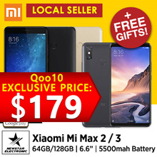 [READY STOCSK ] Xiaomi Mi Max 2/ 6.44 inch display/ 4GB+64GB/ 4GB+128GB/2.0GHz Snapdragon 625/