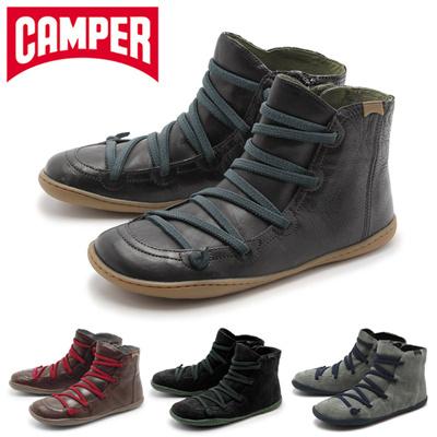 カンペール ペウ カミ CAMPER PEU CAMI レディース カジュアル シューズ レザー ハイカット サイドジップ スニーカー 靴の画像