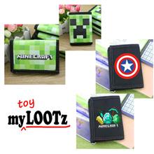 [Aug] Minecraft/Captain America/Totoro/Emoticon/Doraemon Wallet with coin compartment for school kid