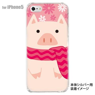 【iPhone5S】【iPhone5】【Clear Arts】【iPhone5ケース】【カバー】【スマホケース】【クリアケース】【アニマル】【ブタ】 10-ip5-animal-07の画像