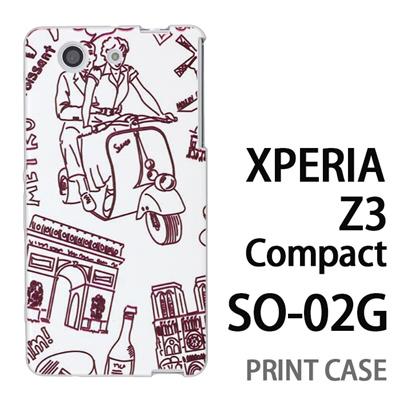 XPERIA Z3 Compact SO-02G 用『0910 ローマの休日 白』特殊印刷ケース【 xperia z3 compact so-02g so02g SO02G xperiaz3 エクスペリア エクスペリアz3 コンパクト docomo ケース プリント カバー スマホケース スマホカバー】の画像