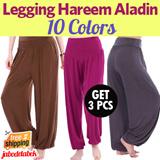 [PAKET 3 PCS] Legging Hareem Aladin / Tersedia 10 Warna / Good Quality / Celana Wanita / Celana Hijabers