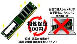 ◇ 相性保証オプション (増設用メモリモジュール)