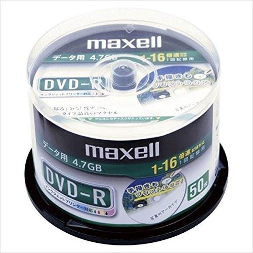 【クリックで詳細表示】maxell:PCDATA用DVD-R1回記録タイプ1-16倍速対応50枚DR47DWP50SP21438