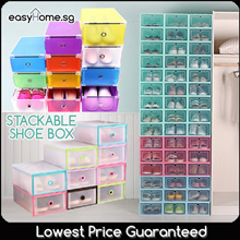 NEW Design Added! Stackable Shoe Box / Storage Shelf Organizer Rack