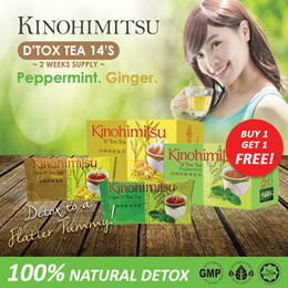 Kinohimitsu Detox Tea 14s BUY 1 FREE 1 (Peppermint/Ginger) SLIMMER HEALTHY YOUs