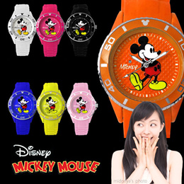 【送料無料】 腕時計 ミッキー Disney ディズニー ステンレス 3D シリコン ミッキー腕時計 (fa-nfc1500) カラフル 可愛い シリアルナンバー スワロフスキー MICKEYMOUS ウォッチ スポーツ時にもオススメ!