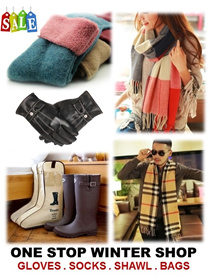 [ORTE] Winter Shawl Sale★Pure Wool Socks $4★Winter Gloves $3★Boots Storage Bag★Scarf ★Towel Socks★