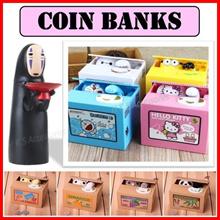 【Free Battery】Kaonashi No Face Coin Bank ★ Cartoon Piggy Bank ★ Kids Safe Box ★ Money ATM Bank