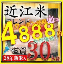 ★20日金曜日まで1200円クーポン使えます!28年ブレンド米!30kg !滋賀県で収穫したお米です。滋賀県は琵琶湖に四方を囲む高い山々、豊かな自然に恵まれており、米作りに最適の環境のお米今回は安価タイプでご用意いたしました。