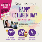 Collagen Day by Kinohimitsu [28 Apr] - $100 worth of goodies / food / workshop / skin analysis