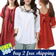 [May 9th Update] LINEN DRESS COLLECTION - DRESSES TOPS JUMPERS BOTTOMS - PLUS SIZE - BUY 3 FREE SHIPPING or over RM63 purchase