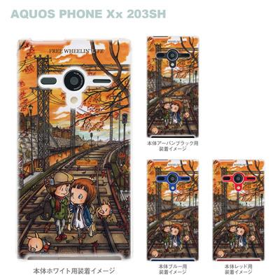 【AQUOS PHONEケース】【203SH】【Soft Bank】【カバー】【スマホケース】【クリアケース】【クリアーアーツ】【アート】【SWEET ROCK TOWN】 46-203sh-sh0009の画像