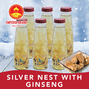 [Heat Relief][Clear Phlegm Sore Throat] Silver Nest with Sea Birds Nest(Ginseng)6x250ml