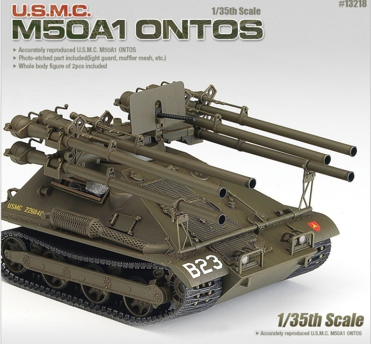 【クリックで詳細表示】[アカデミー科学]ACADEMY 1/35 U.S.M.C. M50A1 Ontos NO.T13218 Plastic Model Kit