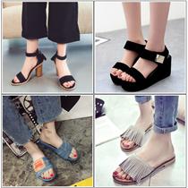 韓国ファッションサンダル  履き心地がいいバックルスリッパサンダル♪/靴/靴/夏の靴/スリッパ/スポーツサンダル/ゼリーサンダル/ゼリーシューズ/ローヒールサンダル/室内履き/コンフォートサンダル